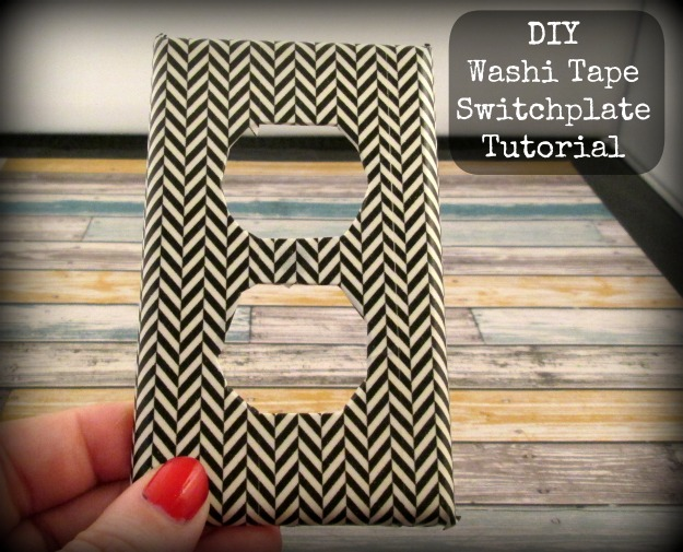 How to make a DIY washi tape switch plate
