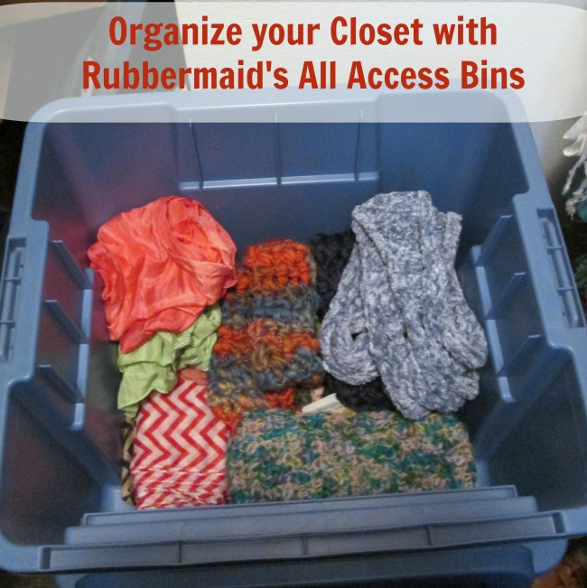 how to organize your closet Organize Your Closet with Rubbermaid All Access Bins