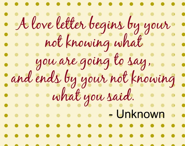 love letter quote unknown Romantic Quotes for Valentines Day