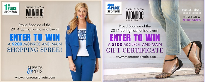 Monroe and Main Fashionista Events Sponsor banner Jord Wood Watch Giveaway #fashionistaevents