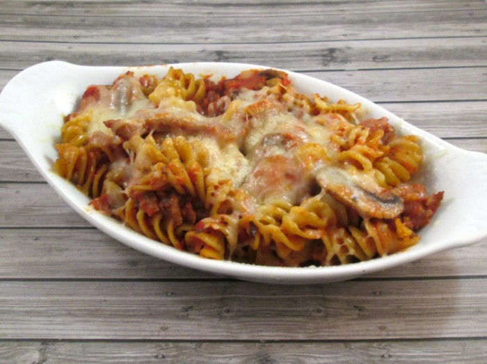 pasta bake 2 700 x 523 Easy 30 Minute Pasta Bake Recipe