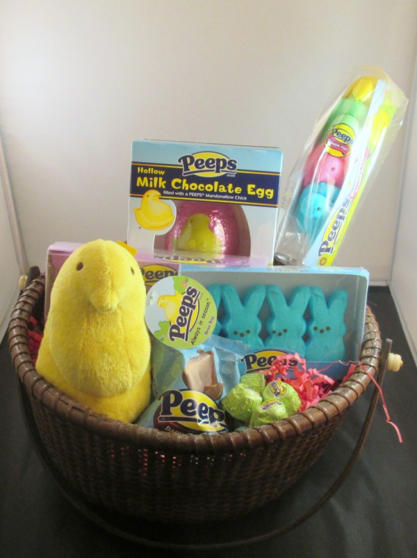 peeps basket 600 x 803 Easy Peeps Cupcakes for Easter