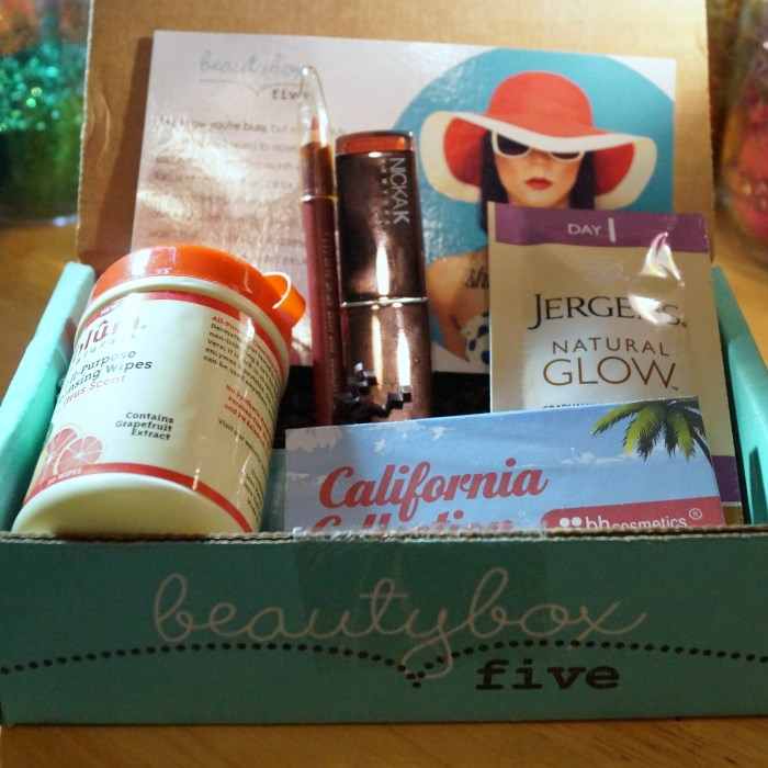 beauty box 5 april 2014 700 x 700 April 2014 Beauty Box 5 Review