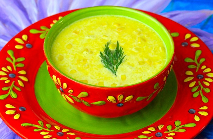 Creamy Corn Soup 700 x 458 4 Delicious Recipes for Chilled Soups