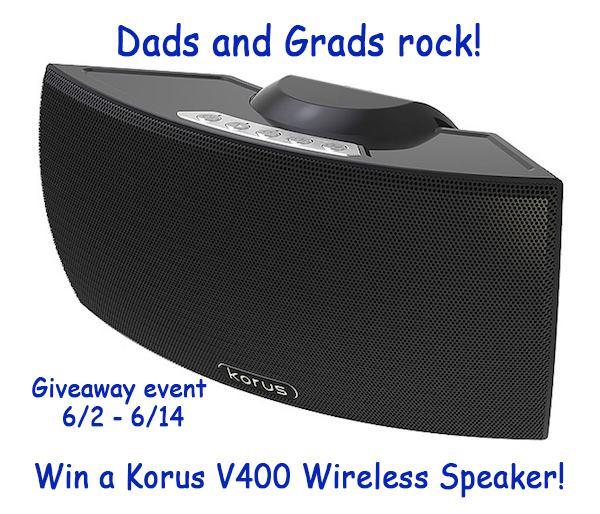 korus v400 speaker Korus V400 Wireless Speaker Giveaway