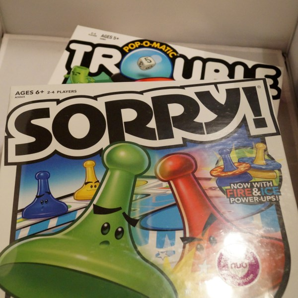 trouble sorry games 600 x 600 Sorry & Trouble Board Games Giveaway   US Only
