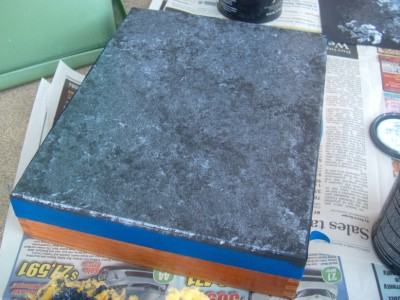 2stepfauxmarble (400 x 300) Marble Faux Finish Cigar Box and Frame