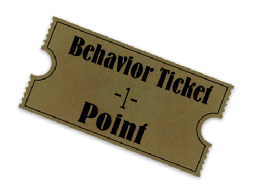 Good Behavior Ticket