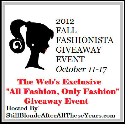 Fall Fashionista Blog Hop giveaway event