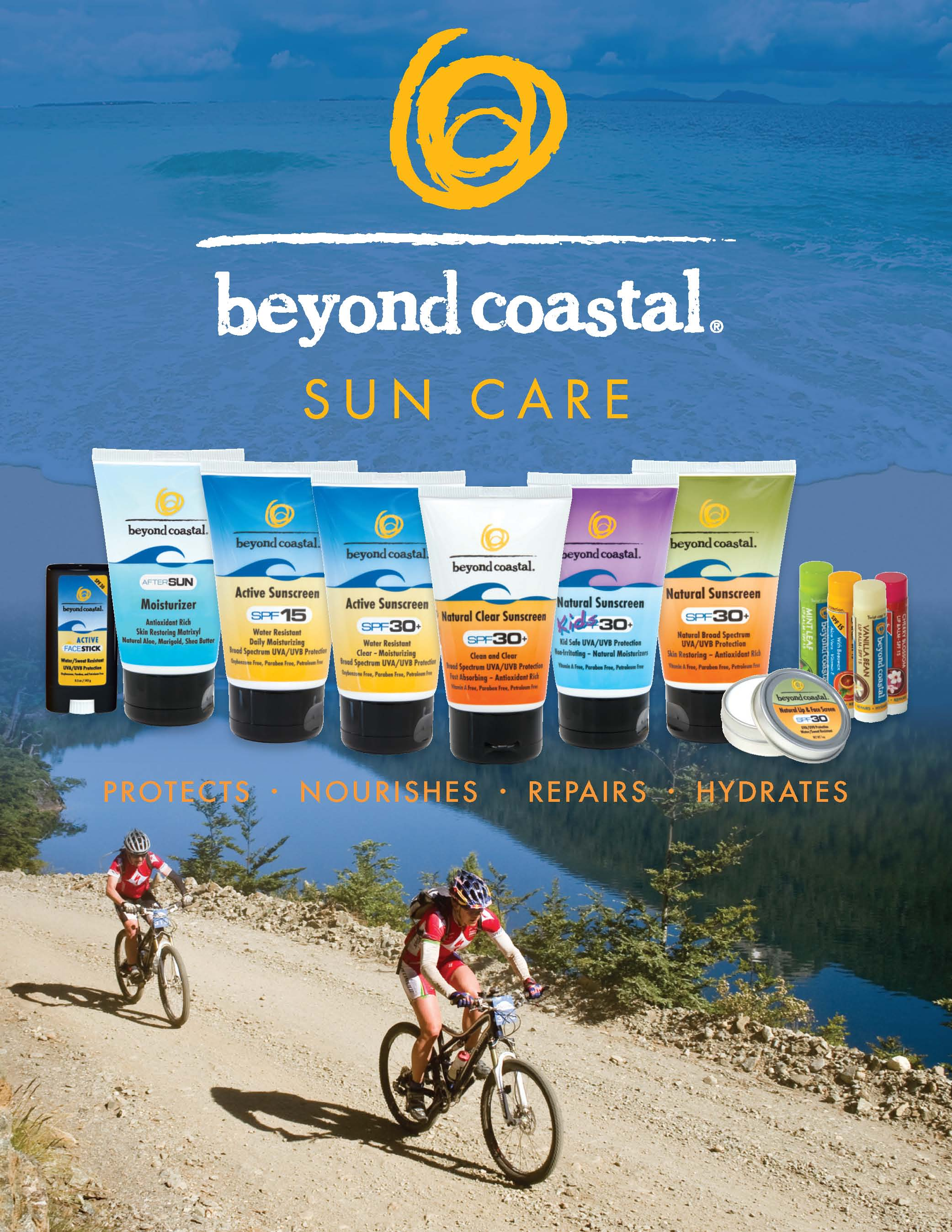 Beyond Coastal sun care sunblock products