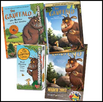 Gruffalo Prize Pack - Book, DVD, Poster + game