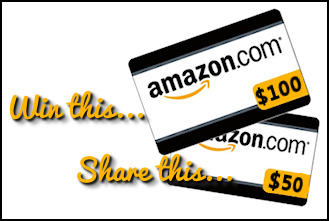 $150 in Amazon Gift Cards Giveaway