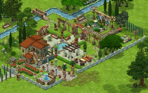 Tail Towns Friends game Tuscan Landscape