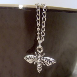 Silverplated Bee Necklace
