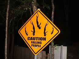 Bungee Jumping Sign - Caution Falling People
