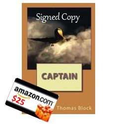 Win a signed copy of Captain by Thomas Block + $25 in Amazon Gift Cards