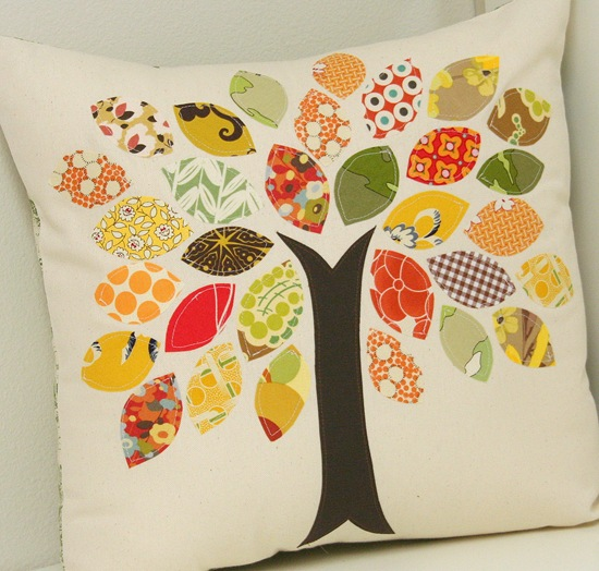 Cute Fall Tree pillow