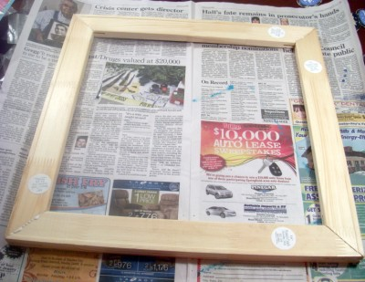 finishedframe (400 x 309) Make Your Own Picture Frame for $5