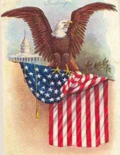 American Eagle Vintage Clipart