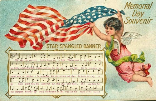 Vintage Patriotic Memorial Day Postcard