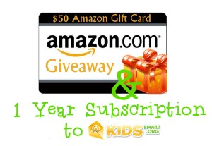 kids email giveaway $100 in Amazon Gift Cards + Kids Email Subscription Giveaway #missiongiveaway