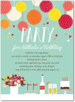 Lantern Birthday Invitation
