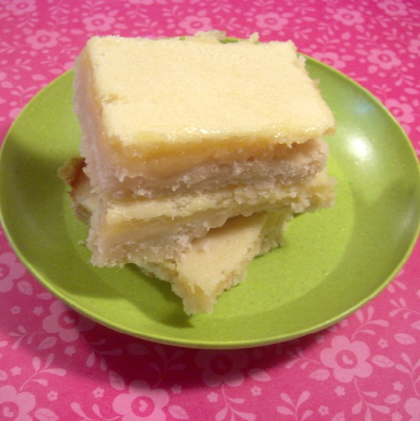 lemonbarscut3 (599 x 600) Sweet and Tangy Lemon Bar Recipe