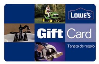 Enter to win a $100 Lowes Gift Card