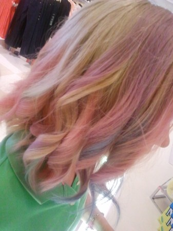 Ombre hair with My Hair Chalk