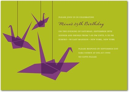 Origami Birthday Invitation