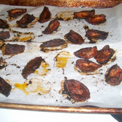 Oven dried tomatoes done