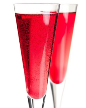 Pomosa Pomegranate Mimosa Champagne cocktail