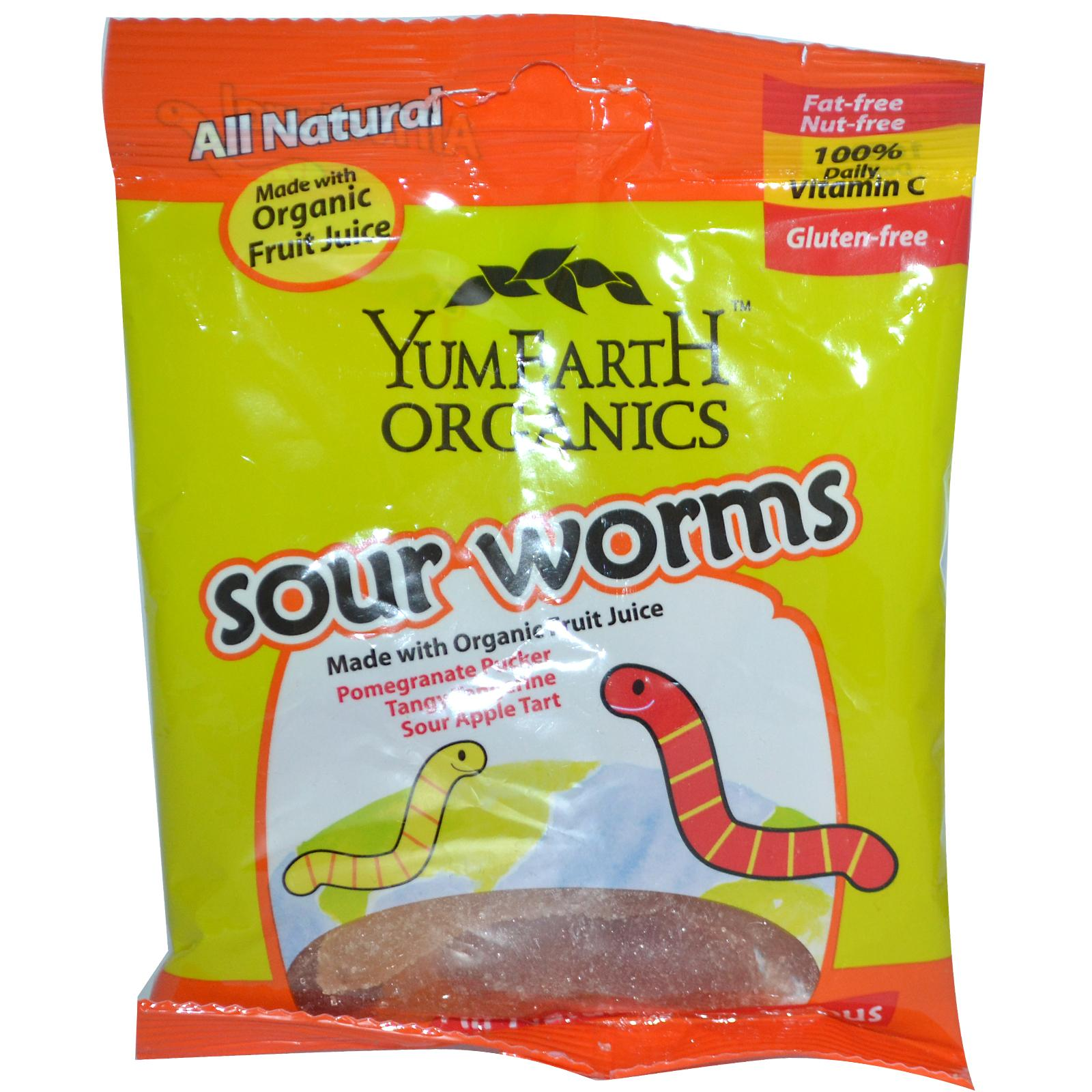 Yummy Earth Sour Worms Candy