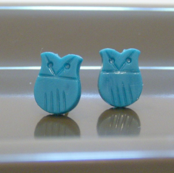 Turquoise Vintage Owl Earrings