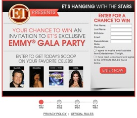 Win an Emmy Gala Red Carpet Trip to LA with Entertainment Tonight