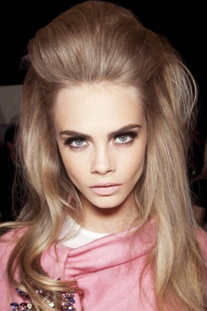 Bouffant hair for Fall 2012