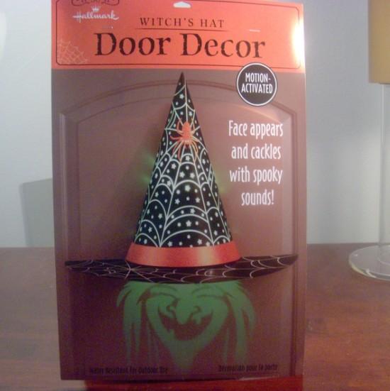 Witch's Hat Hologram Door Decor from Hallmark