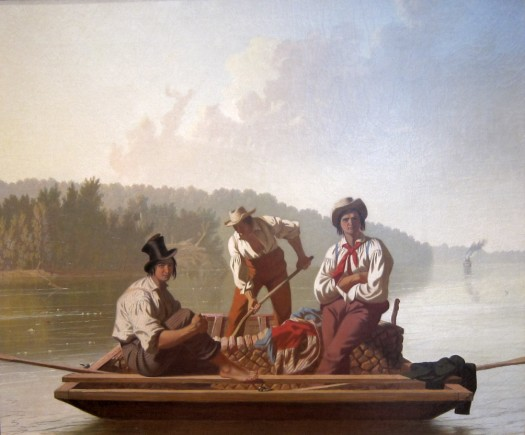 Boatmen on the Missouri painting