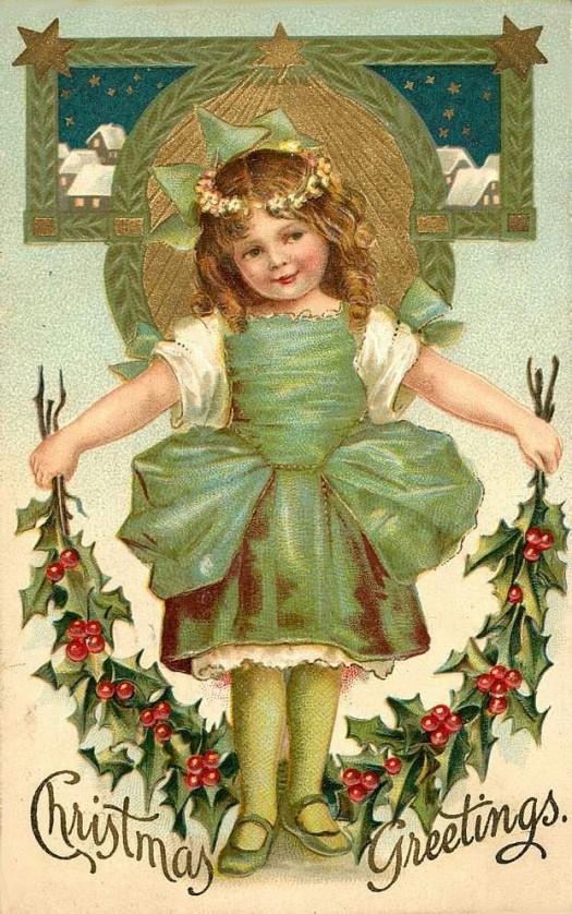 Vintage Christmas Post Card image