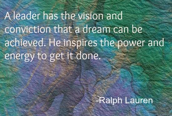 Ralph Lauren dream power quote