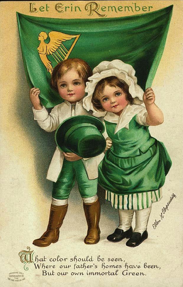 Vintage St Patricks Day Children