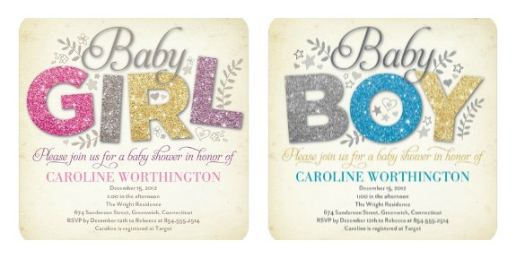 All That Glitters Baby Shower Invitations