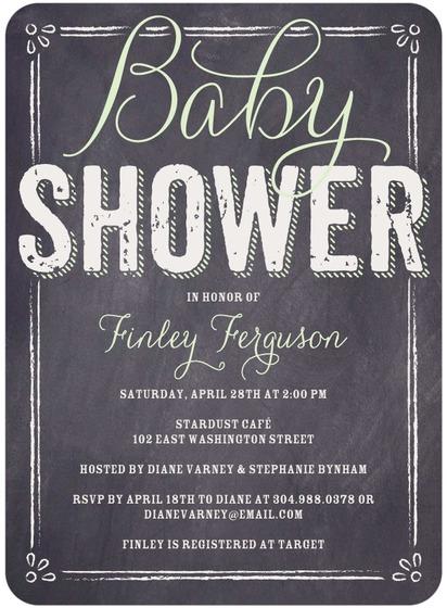 Baby Board Baby Shower Invitation
