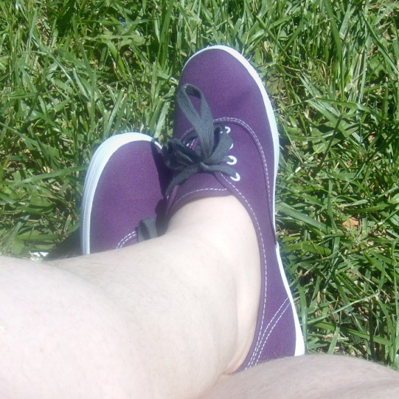 Purple Keds Champion Shoes