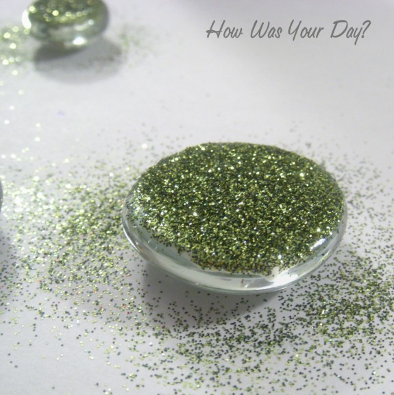 Glitter Glass Marble Magnets