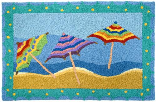 Beach Umbrella Jellybean Rug