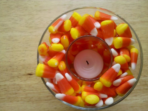 Candycorn Candle