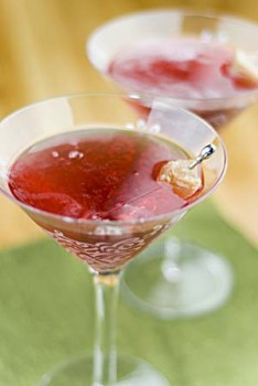 Cranberry Ginger Champagne Martini Cocktails