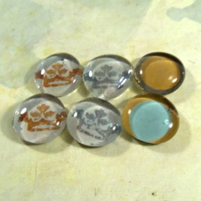 Crown Glass Marble Magnets