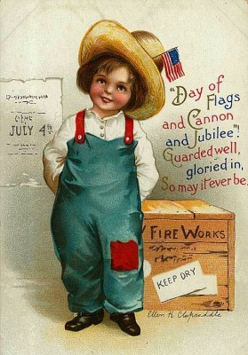 Vintage 4th of July Child Postcard